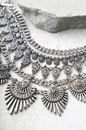 Flair for the Dramatic Silver Statement Necklace 2