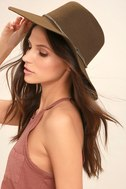 Wyeth Rancher Taupe Fedora Hat 1