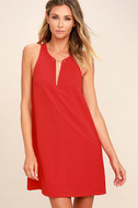 Near or Bar Red Shift Dress 1