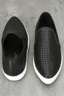 Perla Black Perforated Slip-On Sneakers 3