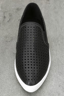 Perla Black Perforated Slip-On Sneakers 5