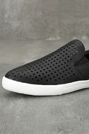 Perla Black Perforated Slip-On Sneakers 6