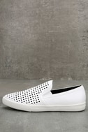 Perla White Perforated Slip-On Sneakers 2
