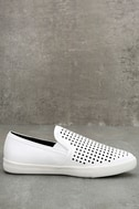 Perla White Perforated Slip-On Sneakers 4