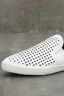 Perla White Perforated Slip-On Sneakers 6