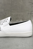 Perla White Perforated Slip-On Sneakers 7