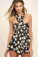 Elated Energy Pink Floral Print Convertible Romper 5