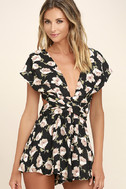 Elated Energy Pink Floral Print Convertible Romper 3