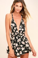 Elated Energy Pink Floral Print Convertible Romper 1