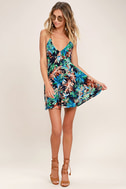 Samana Bay Navy Blue Floral Print Dress 1
