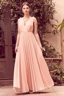 Dance the Night Away Blush Pink Backless Maxi Dress 2