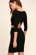 Shape of You Black Bodycon Dress 1