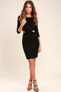 Shape of You Black Bodycon Dress 2