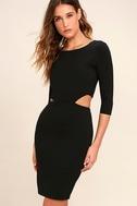 Shape of You Black Bodycon Dress 3