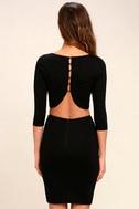 Shape of You Black Bodycon Dress 4