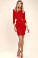 Shape of You Red Bodycon Dress 2