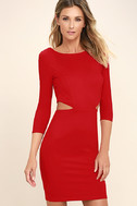 Shape of You Red Bodycon Dress 3