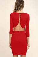 Shape of You Red Bodycon Dress 4