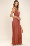 Lost in Paradise Rusty Rose Maxi Dress 2