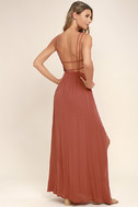 Lost in Paradise Rusty Rose Maxi Dress 3