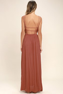 Lost in Paradise Rusty Rose Maxi Dress 4