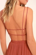 Lost in Paradise Rusty Rose Maxi Dress 5