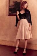 Like a Phenomenon Blush Pink Pleated Midi Skirt 2