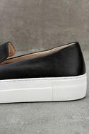 J Slides Piper Black Leather Flatform Loafers 7