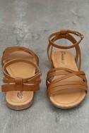 Zoila Tan Ankle Strap Flat Sandals 3