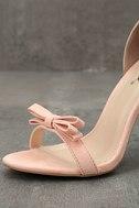 Babette Blush Suede Ankle Strap Heels 6