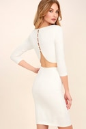 Shape of You White Bodycon Dress 1