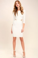 Shape of You White Bodycon Dress 2