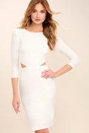 Shape of You White Bodycon Dress 3