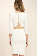 Shape of You White Bodycon Dress 4