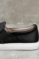 J Slides Cheyenne Black Leather Slip-On Sneakers 7