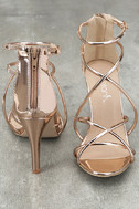 Annora Champagne Patent Dress Sandals 3
