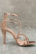 Annora Champagne Patent Dress Sandals 4
