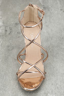 Annora Champagne Patent Dress Sandals 5