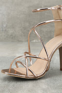 Annora Champagne Patent Dress Sandals 6