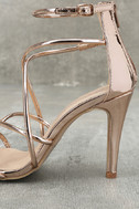 Annora Champagne Patent Dress Sandals 7