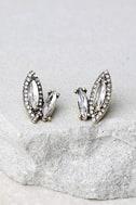 Marquise Lights Gold Rhinestone Earrings 1
