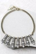 Take a Chance Gold Rhinestone Choker Necklace 2