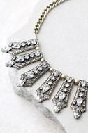 Take a Chance Gold Rhinestone Choker Necklace 3