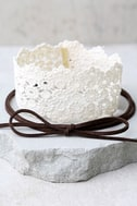 Victorian Era Brown and Cream Lace Necklace Set 2
