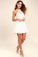 Made in the Crocheted White Skater Dress 2
