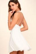 Made in the Crocheted White Skater Dress 3