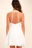 Made in the Crocheted White Skater Dress 4