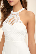 Made in the Crocheted White Skater Dress 5