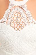 Made in the Crocheted White Skater Dress 6