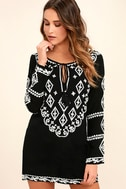 A Day in the Life Black and White Embroidered Dress 1